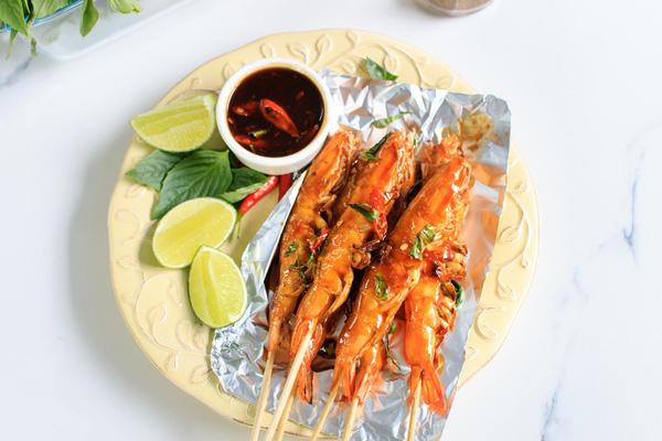 Tôm nướng kiểu Thái