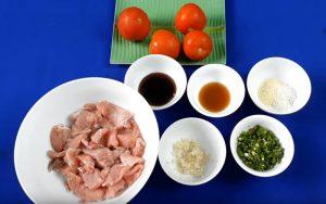 thịt lợn sốt cà chua